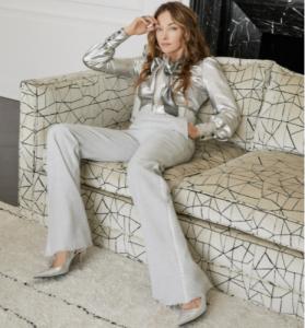 Kelly Wearstler on sofa